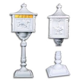 Tuin 1407 Ozdobná poštovní schránka - bílá Poštovní schránky