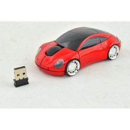 PC myš auto bezdrátová - červená Gadgets