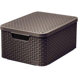 CURVER 41117 Košík box s víkem - M - tm. hnědý