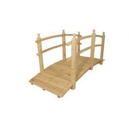 Gaboni 55342 Zahradní dřevěný most - bez povrchové úpravy - 248 cm