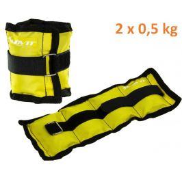 MOVIT 31946 zátěžové manžety, 2 x 0,5 kg žlutá