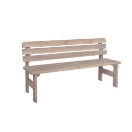Tradgard VIKING 54623 Zahradní dřevěná masivní lavice šedá - 150 cm