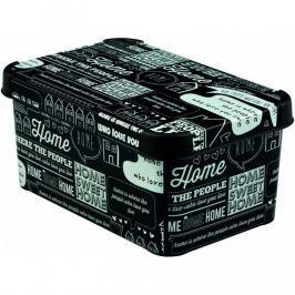 CURVER DECO TYPOGRAPHY 33117 Plastový úložný box - S