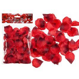 Lístky RUDÝCH růží 150 ks Žertovné předměty