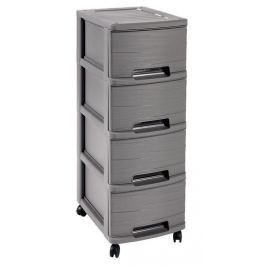 CURVER RIBBON 32344 skříňka - 4 boxy - šedá