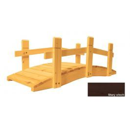Gaboni 57270 Zahradní dřevěný můstek - 71 cm - STARÝ OŘECH