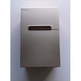 Plechová krabička na cigarety - Stříbrná