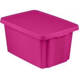 CURVER Úložný box s víkem  45L - fialový Úložné boxy