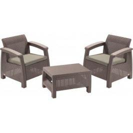 Allibert CORFU WEEKEND 35585 Zahradní set - cappuccino Zahradní ratanový nábytek