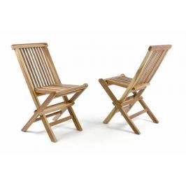 Divero 35469 Zahradní sada 2 dětských dřevěných židlí