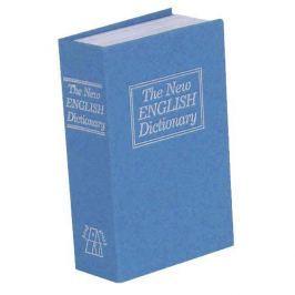 Trezor kniha, 180x115x54mm modrá