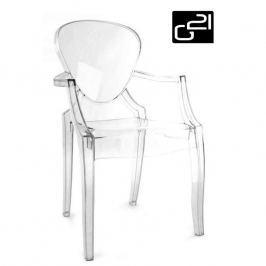 G21 Pure Crystal transparent 51741 Designová židle