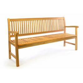 Divero 50388  3-místná zahradní lavice z masivního teaku, 180 cm
