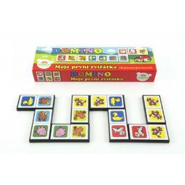 Moje první zvířátka Domino 28ks společenská hra v krabičce 21x6x3cm Stolní hry
