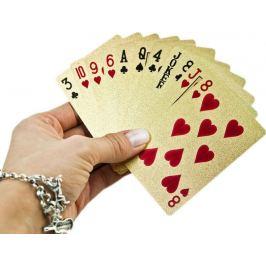 Zlaté hrací karty Karty na poker