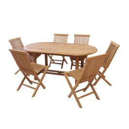 Divero 2343 Zahradní nábytek z týkového dřeva