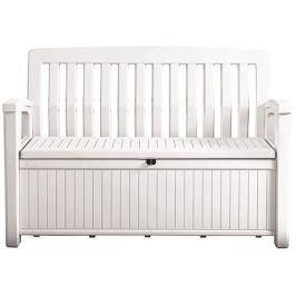 Keter PATIO 54567 Zahradní lavice s úložným prostorem - bílá