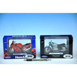 Welly Motocykl Honda F6 C model černá 1:18 Auta, letadla, lodě