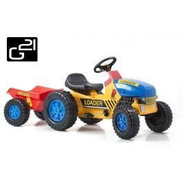 G21 Classic 51900 Šlapací traktor s vlečkou žluto/modrý