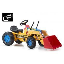 G21 Classic 51899 Šlapací traktor s nakladačem žluto/modrý