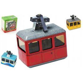Kovap Lanovka červená na klíček kov 10x7,v krabičce Auta, letadla, lodě