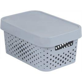 CURVER INFINITY DOTS 41569 Úložný box 4,5L - šedý