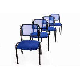 Garthen 40949 Sada 4 stohovatelných kongresových židlí - modrá