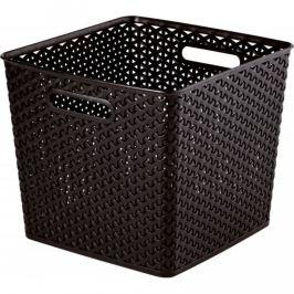 CURVER MY STYLE SQR 33012 Plastový koš - tm. hnědá Úložné boxy