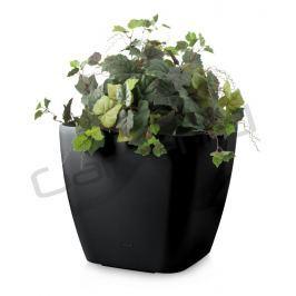 G21 Cube maxi Samozavlažovací květináč černý 45cm