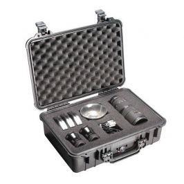 Peli 1500 Kufr s pěnou pro elektroniku, fotoaparáty, černé, odolné/vodotěsné