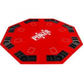 Garthen 57371 Skládací pokerová podložka - červená Stoly na poker