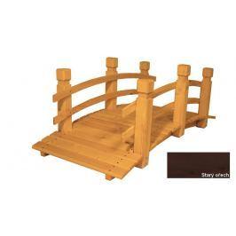 Gaboni 57274 Zahradní dřevěný most - STARÝ OŘECH - 149 cm