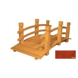 Gaboni 57272 Zahradní dřevěný most - TEAK - 149 cm