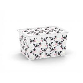 KIS C ANIMAL 57160 Plastový úložný box - XL - kravičky