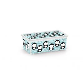 KIS C ANIMAL 57155 Plastový úložný box - XS - tučňák