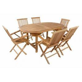 Divero 54018 Zahradní set - týkové dřevo
