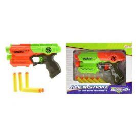 Pistole na pěnové náboje 5ks plast 20cm asst 2 barvy v krabici