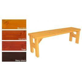 Gaboni Darina 55572 Zahradní dřevěná lavice bez opěradla - s povrchovou úpravou - 150 cm