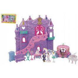 Hrad/palác pro princezny s doplňky 12ks plast 34x35cm na baterie se zvukem se světlem v krabici