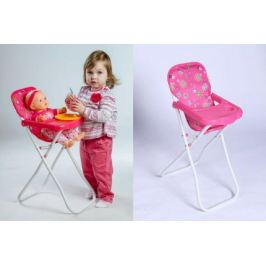 Teddies 55025 Židlička pro panenky vysoká kov/plast 33x26x60cm v sáčku