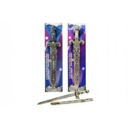 Rytířský meč s pochvou 53cm asst 3 druhy na kartě