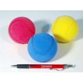 Soft míč na soft tenis pěnový průměr 7cm asst 3 barvy