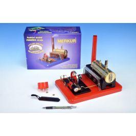 Stavebnice MERKUR funkční model parního stroje Standart v krabici 28x11x20cm