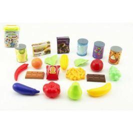 Ovoce a zelenina 60ks/Kuchyňské nádobí 42ks + doplňky plast asst 2 druhy v plastovém boxu 21x26x14cm