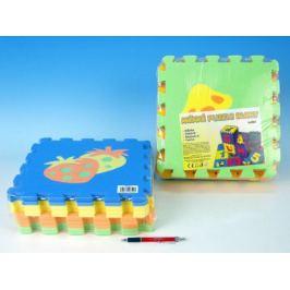 Ovoce Pěnové puzzle 30x30cm asst 2 druhy 10ks v sáčku