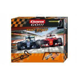 Autodráha Carrera GO!!! Fast start 7m + 2 formule v krabici 60x50cm