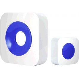 Optex 990228 Bezdrátový designový barevný zvonek bílá/modrá s dlouhým dosahem
