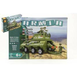 Stavebnice Dromader Vojáci Tank 22604 319ks v krabici 35x25,5x5,5cm