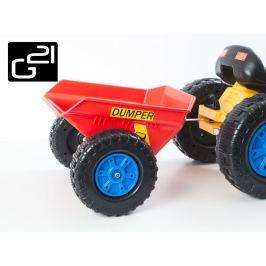 G21 51903 Příslušenství - vlečka k šlapacímu traktoru červená