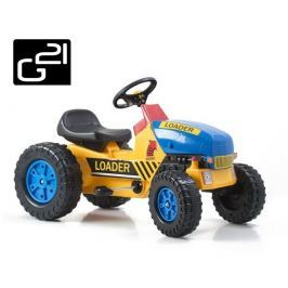 G21 Classic 51897 Šlapací traktor žluto/modrý
